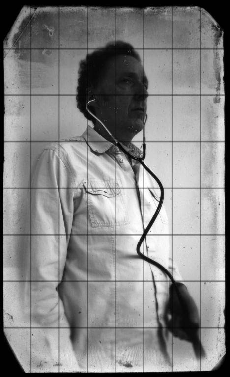 old photo person stethoscope