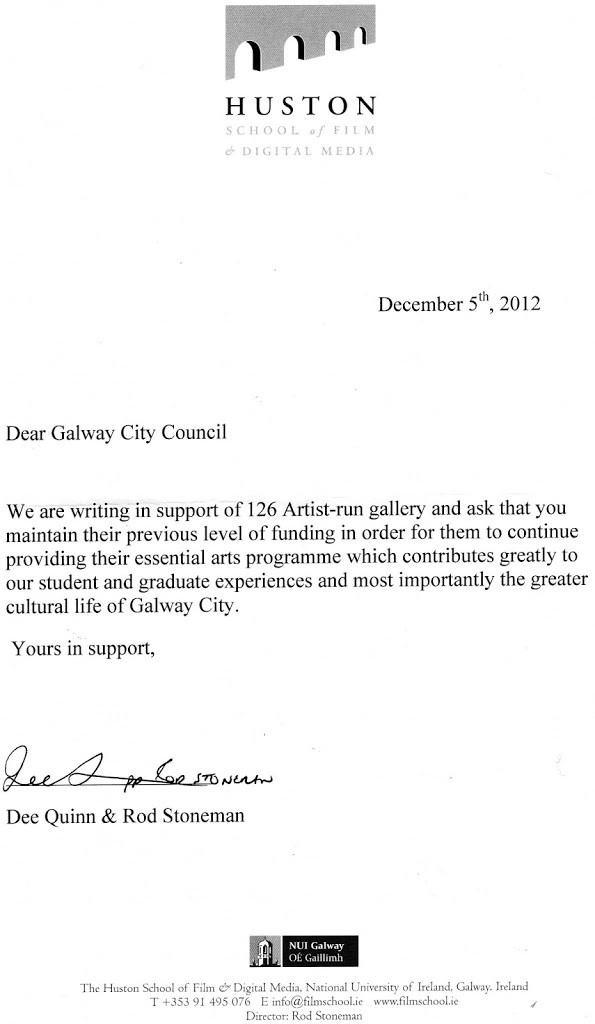 letter of support from huston film school