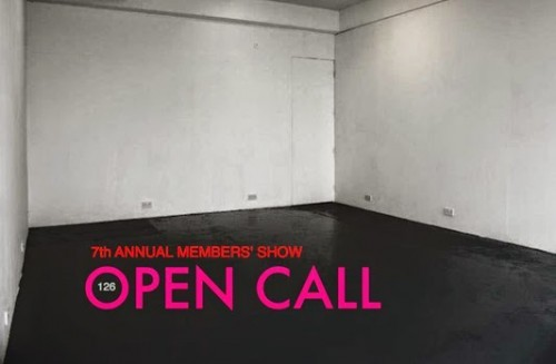 Annual members show open call poster
